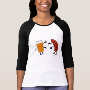 Beer & Bratwurst - Funny Friendly Food T-Shirt