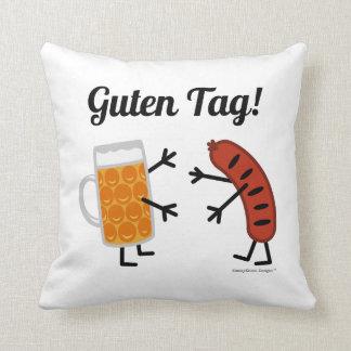 Beer & Bratwurst - Guten Tag! Throw Pillow