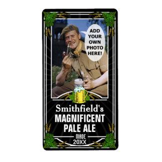 Beer Brew Custom Photo Homebrewing Bottle Black v2 Label