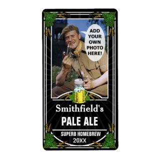 Beer Brewer Custom Photo Homebrewing Bottle Black Shipping Label