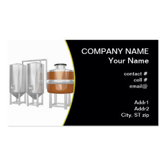 Beer brewery equipment business cards