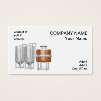 Beer brewery equipment business card