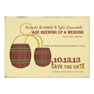 Beer Brewery Save the Date 4.5x6.25 Paper Invitation Card