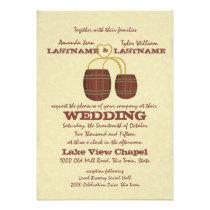Beer Brewery Wedding Custom Announcement