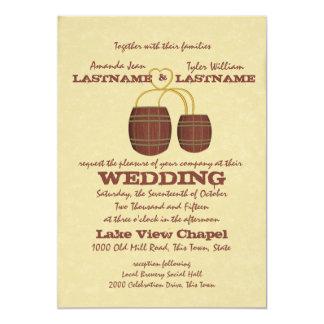 Beer Brewery Wedding 5x7 Paper Invitation Card
