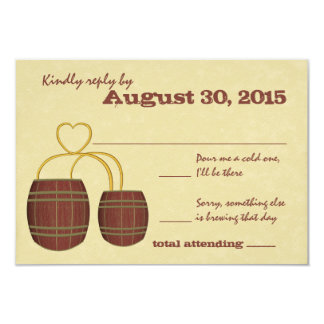 Beer Brewery Wedding Response 3.5x5 Paper Invitation Card