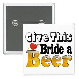 Beer Bride Pinback Button