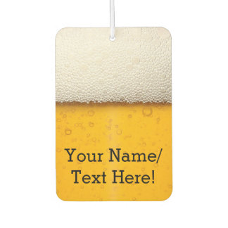Beer Bubbles Background Pattern Car Air Freshener