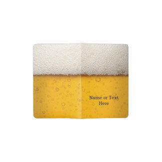 Beer Bubbles Background Pattern Pocket Moleskine Notebook