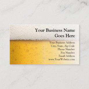 Brewery business cards templates zazzle beer bubbles close up bartender beer craft brewery business card colourmoves