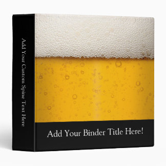 Beer Bubbles Close-Up Binder