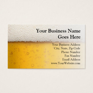 Beer Bubbles Close-Up Business Card