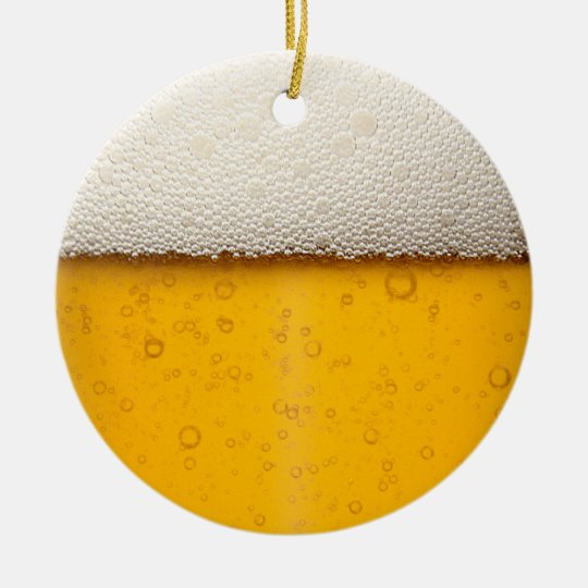 Beer Bubbles Close-Up Ceramic Ornament