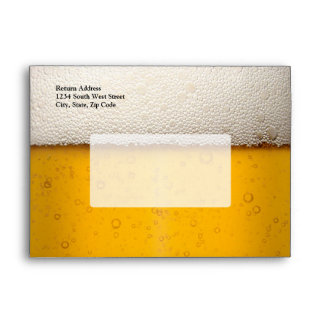 Beer Bubbles Close-Up Envelope