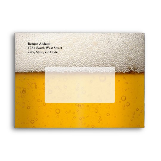 Beer Bubbles Close-Up Envelope