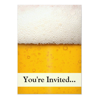 Beer Bubbles Close-Up 5x7 Paper Invitation Card