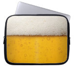 Beer Bubbles Close-Up Laptop Sleeve