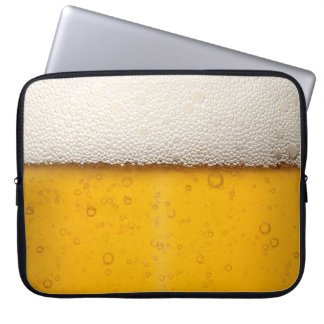Beer Bubbles Close-Up Laptop Sleeves