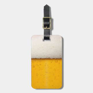 Beer Bubbles Close-Up Tag For Bags