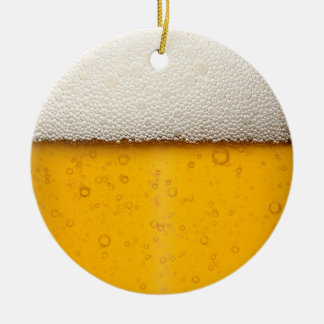 Beer Bubbles Close-Up Christmas Tree Ornaments