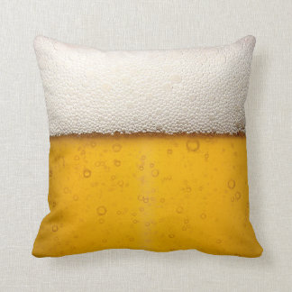 Beer Bubbles Close-Up Throw Pillow