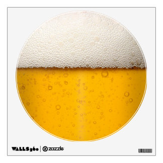 Beer Bubbles Close-Up Wall Decal