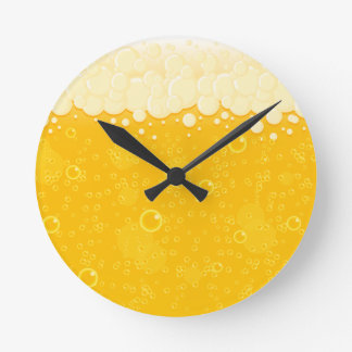 Beer Bubbles 🍺 Round Clock