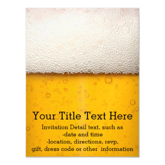 Beer Bubbles Magnetic Invitations