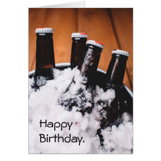 Beer Bucket List Birthday Card