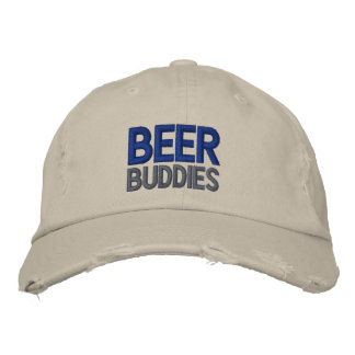 BEER Buddies Distressed Baseball Cap
