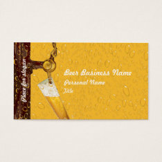 Beer Business Business Card at Zazzle