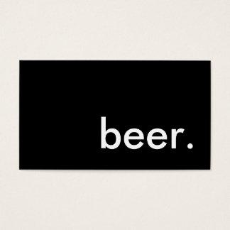 beer. business card