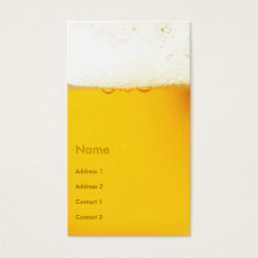 Beer Business Cards at Zazzle