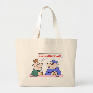 beer buyer's remorse large tote bag