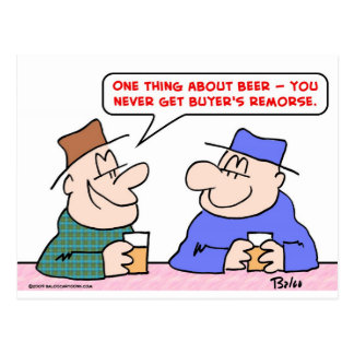 beer buyer's remorse postcard