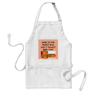 BEER can collector Adult Apron