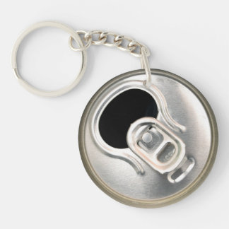 beer can top open drink metal container keychain