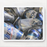 Beer cans mousepad