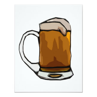 Beer Cartoon Art Invitations - Beer Invites