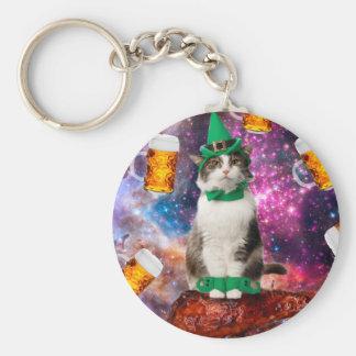 Beer cat keychain