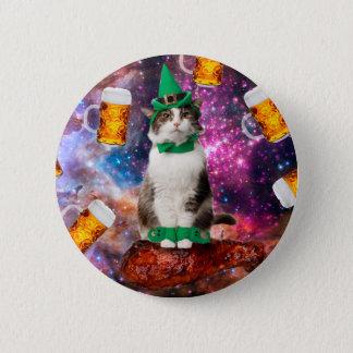 Beer cat pinback button