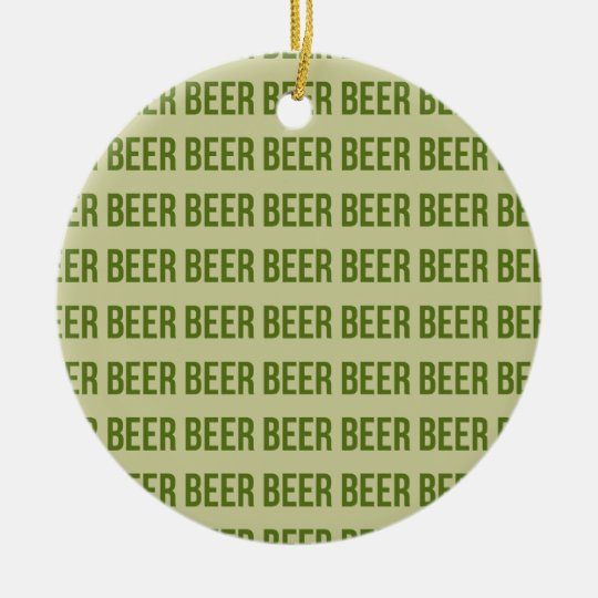 Beer Ceramic Ornament