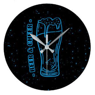 Beer & Cheer Large Clock