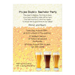 Beer Cheers Bachelor Party Invitation