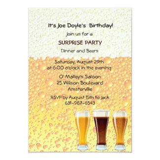 "Beer Cheers Invitation 5"" X 7"" Invitation Card"