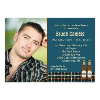 Beer Cheers Photo Invitation