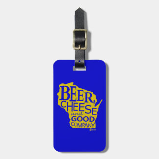 Beer Cheese & Good Company Du tonto Designs WI Etiquetas Maleta