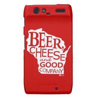 Beer Cheese & Good Company Du tonto Designs WI Motorola Droid RAZR Carcasas
