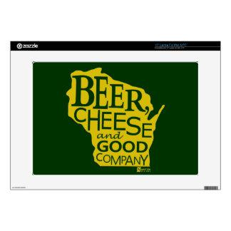 Beer Cheese & Good Company Du tonto Designs WI Portátil Skins