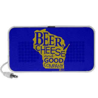 Beer Cheese & Good Company Zany Du Designs WI Portable Speaker